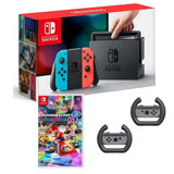 Nintendo Switch & Joy-Con 電光藍/紅組合+瑪莉歐賽車8 豪華版【送方向盤X2】