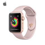 Apple Watch Series 3 38mm 金色鋁金屬錶殼搭配粉沙色運動型錶帶 買就送旺旺大禮包(數量有限,送完為止)