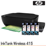 HP InkTank Wireless 415 無線相片連供事務機+一組原廠墨水(GT)