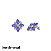 Jewelrywood 香榭仕女花樣耳環(紫羅蘭)