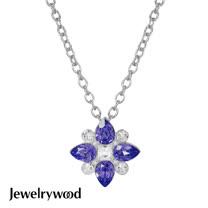 Jewelrywood 香榭仕女花樣項鍊(紫羅蘭)