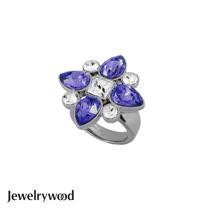 Jewelrywood 香榭仕女花樣戒指(紫羅蘭)
