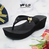 【G.P 女款厚底舒適夾腳拖鞋】G8517W-黑色(SIZE:35-39 共二色)