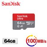活動-【超值二入組】SanDisk Ultra microSDXC UHS-I (A1) 64GB記憶卡100MB/s