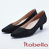 itabella.典雅氣質-尖頭斜口高跟鞋(8201-95黑色)