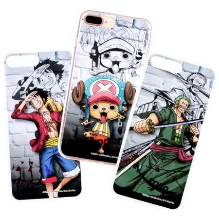 【航海王】iPhone 7 /8 Plus (5.5吋) 城牆系列 彩繪保護軟套