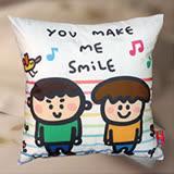 P714數碼印花精緻水晶絨靠墊/抱枕-YOU MAKE ME SMILE(原創獨家授權)