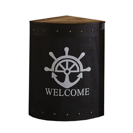 【AT HOME】美式海军图腾1.5尺扇型多功能吧台桌(46x46x80cm)