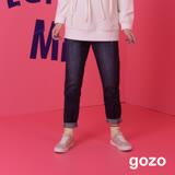 gozo 男友風刷破牛仔長褲(二色)