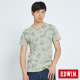 EDWIN 椰林印花短袖T恤-男款-淺綠色