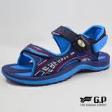 【G.P 兒童輕量緩震磁扣兩用涼拖鞋】G8675B-寶藍色(SIZE:31-35 共三色)