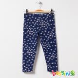 bossini女童-印花針織貼身褲01海軍藍(品特)