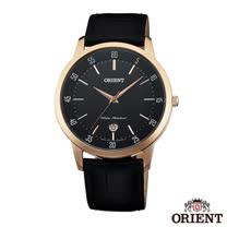 ORIENT東方錶  優雅內斂藍寶石石英男錶-黑x39mm FUNG5001B0