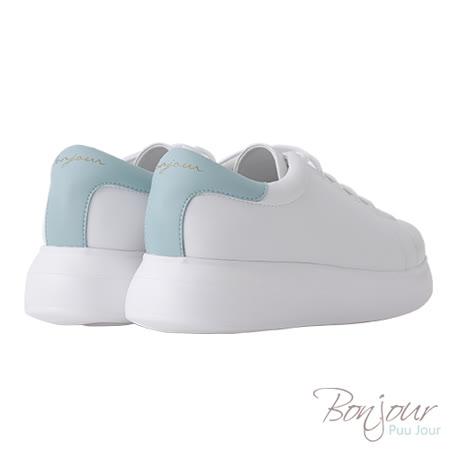 BONJOUR☆+4cm完美比例厚底輕量休閒鞋【ZB0304】綠
