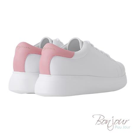BONJOUR☆+4cm完美比例厚底輕量休閒鞋【ZB0304】粉