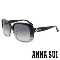 Anna Sui 日本安娜蘇 復古時尚大理石紋半透框面造型太陽眼鏡 (漸層灰) - AS849G997