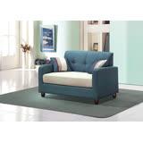 喬本二人座藍色布沙發