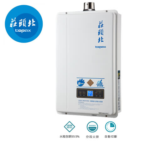 《TOPAX 莊頭北》13L強制排氣型熱水器TH-7139/TH-7139FE(原TH-7138) 天然瓦斯