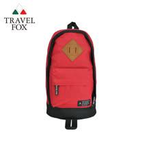【TRAVEL FOX 旅狐】尼龍輕巧豬鼻系單肩斜背包 (TB666-04) 紅色