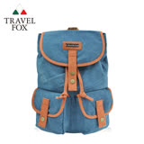 【TRAVEL FOX 旅狐】大束口帆布後背水筒包 (TB672-77)藍色