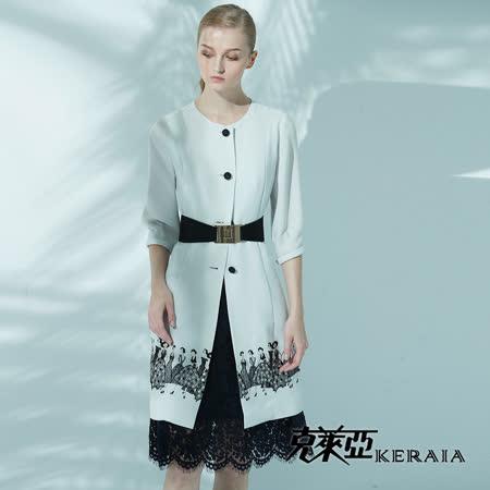 【克萊亞KERAIA】蕾絲拼接背心洋裝