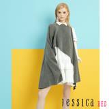JESSICA RED - 簡單優雅荷葉造型洋裝(白)