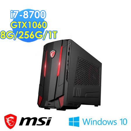 msi微星 Nightblade MI3 8RC-002TW i7-8700 GTX1060 Win10 電競桌機