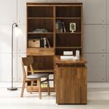 日本直人木業-BRAC層木一個3抽一個1抽書櫃加調整書桌
