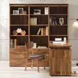 日本直人木業-BRAC層木三個3抽書櫃加調整書桌