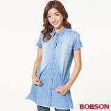 BOBSON女款牛仔長版襯衫 (26133-53)