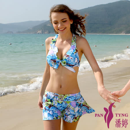 PanTyng 花漾風彩-比基尼三件式泳裝 (M~XL)