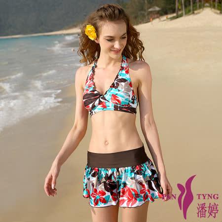 PanTyng 漫妙豐華-比基尼三件式泳裝 (M~XL)
