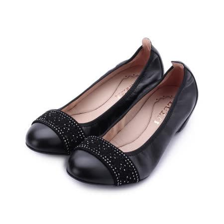 LUZZI 真皮雷射鑽內增高鞋 黑 女鞋 鞋全家福