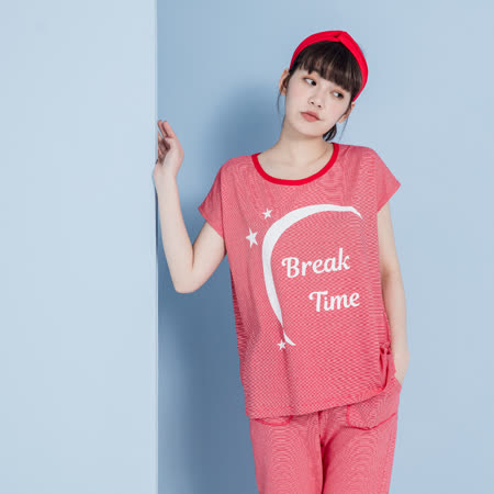 【YVONNE COLLECTION】細條紋Break Time上衣- 紅