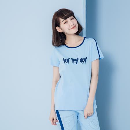 【YVONNE COLLECTION】瓢蟲印花無袖上衣- 藍