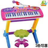 【Playful Toys 頑玩具】37鍵電子琴+麥克風( 多功能電子琴 鋼琴彈奏 音樂琴玩具 兒童樂器 兒童玩具 電子鋼琴 外接mp3 麥克風)