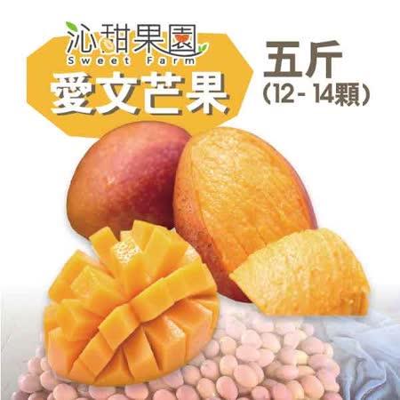 《沁甜果园SSN》屏东枋山爱文芒果(12-14粒装/5台斤)