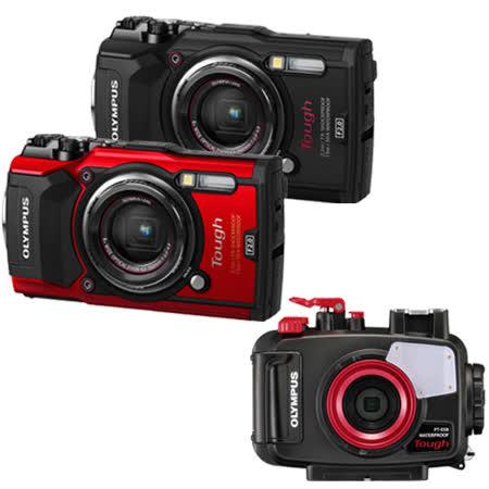 OLYMPUS Stylus Tough TG-5防水數位相機+PT-058專用潛水殼(公司貨)贈64G記憶卡+專用電池x2+原廠硬殼包+漂浮手帶+清潔組+讀卡機+軟管小腳架+保貼