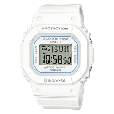 CASIO BABY-G BGD-560系列街頭時尚運動風格腕錶-白(BGD-560-7D)