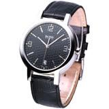 HUGO BOSS 同名LGOG復刻錶盤皮帶男錶-黑