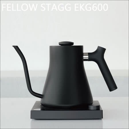 美国FELLOW Stagg EKG600电子温控手冲壶-烤漆黑-600ml (HG2414)