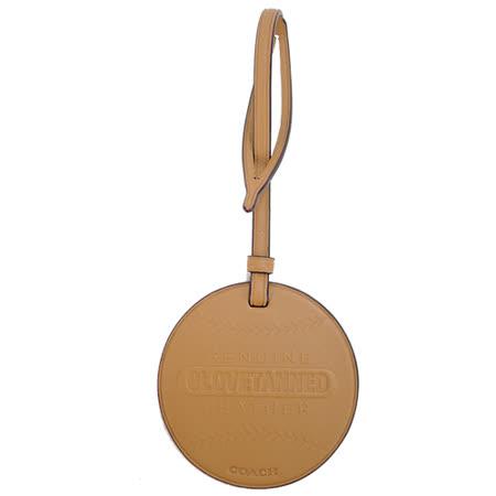 COACH 專櫃款棒球造型皮革裝飾(棕)