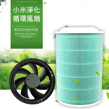 小米空氣淨化循環風扇 自製空氣清淨機淨化器 淨化風扇 除霧霾/PM2.5/甲醛/煙味 適用小米濾芯