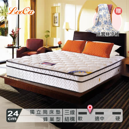 LooCa蜂巢式獨立筒床-雙人