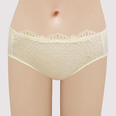 【瑪登瑪朵】S-Select 低腰寬邊三角內褲(鵝黃)