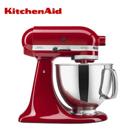 (福利品) KitchenAid 4.73公升 抬頭式桌上型攪拌機 經典紅 KSM150PSER+贈淨膚儀&美足護理超值組