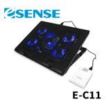 逸盛 Esense E-C11 冷光五風扇筆電散熱墊