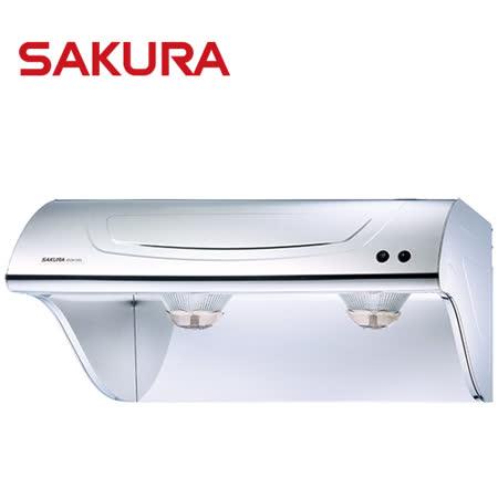 【促销】樱花SAKURA 70CM斜背式高速双涡轮除油烟机 R-3261S/R3261S 送安装