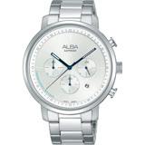 ALBA雅柏 Tokyo Design 原創計時手錶-銀/42mm VD53-X313S(AT3E03X1)