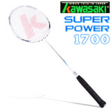 Kawasaki Super Power1700奈米碳纖維超輕羽球拍-藍